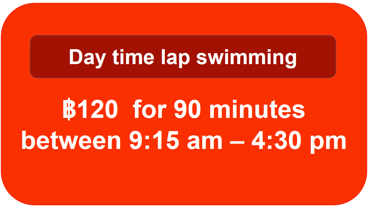 Day time lap sessions at chiang mai swimming pool