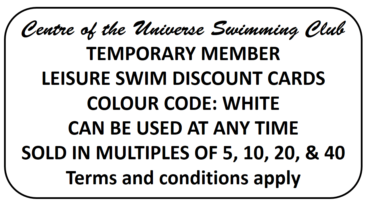 Discount cards for recreational swimming