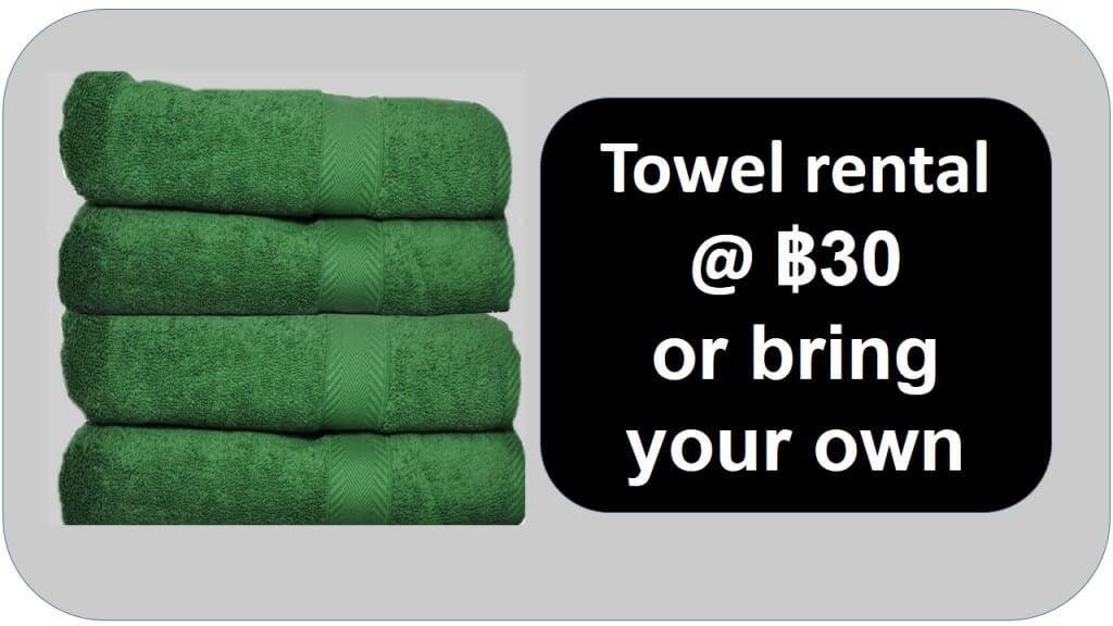 Towel rental 30 Baht