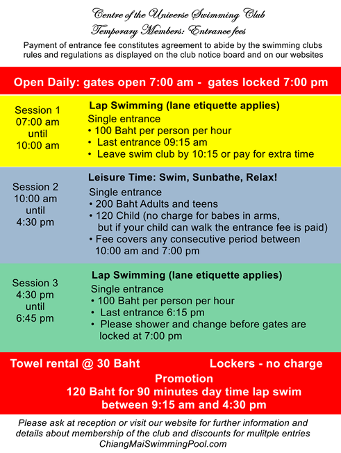 Entrance fees and opening times